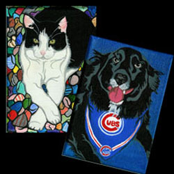 Jack and Mookie portraits