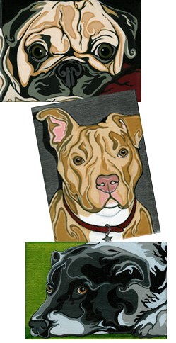 Buster, Nikko and Jasmine's portraits
